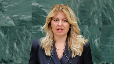 """صورة لا تنازل عن الأناقة حتى لو كانت في """"زمن الكورونا"""".. رئيسة سلوفاكيا تجذب انتباه العالم (صور)"""