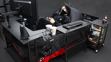 """صورة سرير ياباني مبتكر يوفر قمة الراحة """"لمدمني الألعاب الإلكترونية"""""""