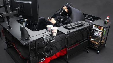 "Photo of سرير ياباني مبتكر يوفر قمة الراحة ""لمدمني الألعاب الإلكترونية"""