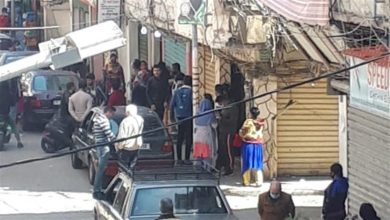 Photo of اكتظاظ في منطقة النبعة خلال توزيع مساعدات