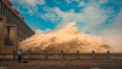 صورة فيديو | فيضانات قياسية تهدد بكارثة لأكبر سد في العالم