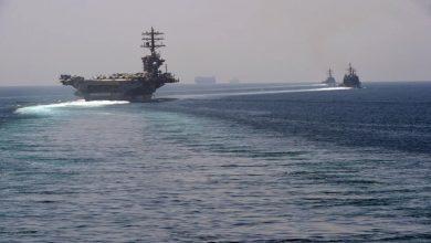 صورة لأول مرة منذ 10 أشهر.. حاملة طائرات أمريكية تدخل إلى مياه الخليج