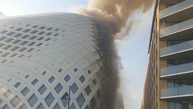 صورة معلومات صحافية: أعمال تلحيم قد تكون سبب الحريق في مبنى زها حديد في وسط بيروت