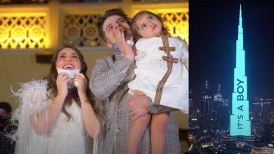 صورة استأجرا برج خليفة لثلاث دقائق… أكبر حفل في العالم للكشف عن جنس الجنين (فيديو)