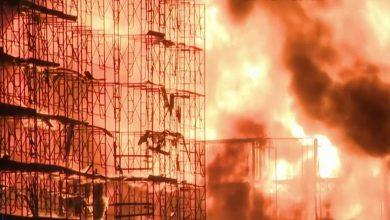 صورة هل السبب تلحيم؟؟ بالفيديو حريق هائل في مدينة هيوستون الأمريكية يلتهم مجمعا سكنيا
