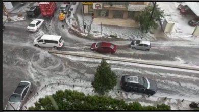 صورة تساقط للبَرَد وأمطار غزيرة.. استعدّوا لكوارث الطّقس!